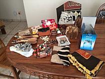 Ein paar Geschenke von Namibia für die zu Hause gebliebenen.