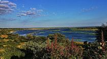 Der Kavango River macht sich sichtlich breit