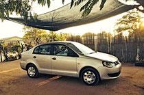 Unser Mietwagen VW Polo Vivo