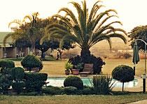 Sicht von der Veranda der Omashare Lodge