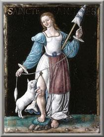 Sainte Agnès souvent l'hiver progresse douce comme l'agneau avec lequel elle est souvent représentée