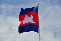 De vlag van Cambodja