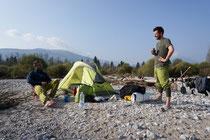 Camp unterhalb von Vigevano.