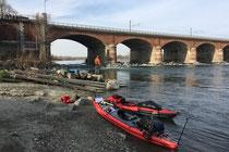 Brückenwehr Ponte Valenza