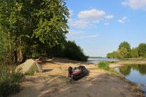Wildcamp an der Loire