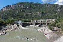 Röhrendamm am Ticino.