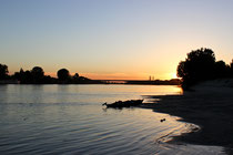 Sonnenuntergang im Po-Delta