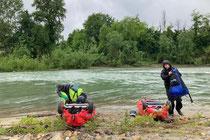 Po unterhalb der Ticino-Mündung.