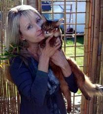 Stefanie Eckermann mit Somalikatze, Cattery: Nosy Goblin´s, Bad Nenndorf, Hannover