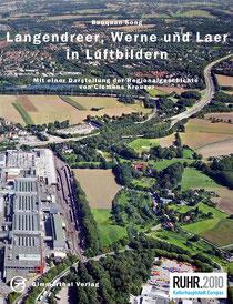 Das Titelbild des Buches zeigt das Opelwerk I in Bochum-Laer und Bochum-Langendreer mit dem Uemminger See