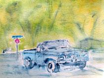 Truck on Old Topanga Road
