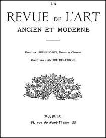 Revue de l'art ancien et moderne, Paris Couverture.