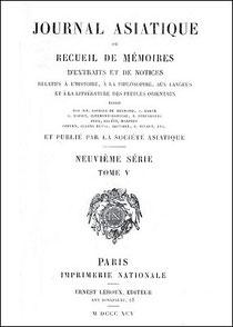 Fernand de MÉLY (1852-1935) : L'alchimie chez les Chinois et l'alchimie grecque. Journal asiatique, septembre-octobre 1895, pages 314-340.
