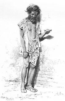 Mendiant, d'après une phot. du Dr Morache.