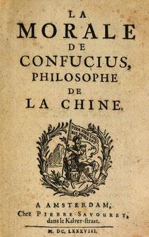 Couverture Amsterdam. Jean de Labrune (?-1743?) : La morale de Confucius, philosophe de la Chine Pierre Savouret, Amsterdam, 1688.