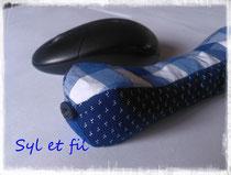 Coussin bouillotte repose poignet bleu