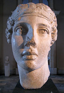 Roman bust of Sappho, copied from a lost Hellenistic original in Istanbul Archaeological Museum