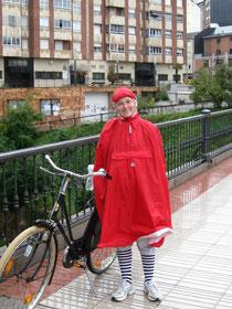 kim met oma-fiets