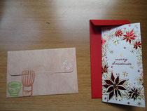 メッセージカード。かわいい!