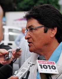 Ovide Mercredi, Chief of the Assembly of First Nations von 1991 bis 1997, die aus der National Indian Brotherhood hervorging
