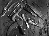 Les outils du vannier, Michel Le Guilcher