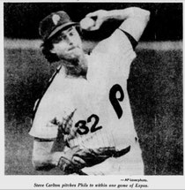 Steve Carlton picked up his 22nd win.