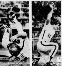 Pete Rose was hit by a pitch in the 2nd inning.