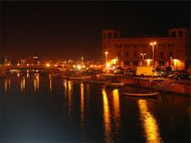 Ortigia at night-time