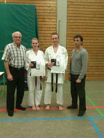 von links: Roland Lowinger, Anna Tesch, Simon Layer, Efthimios Karamitsos