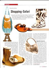 """""""Shopping Safari""""- Artikel im Schuhkurier über AfricanSista"""