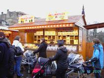 Chocolat Kiss Stall-German Christmas Market Edinburgh