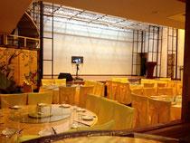 江東区 中国料理店に本格的ステージづくり