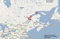 détails carte du Canada