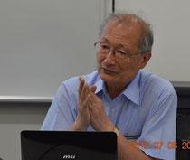 講演中の佐々木先生