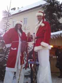 Stelzengeher, Weihnachtsmann