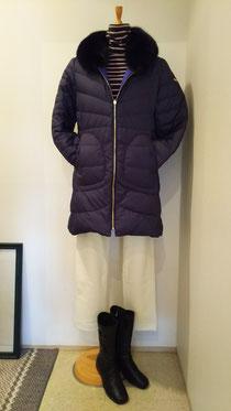 初雪と共に本格的なコート