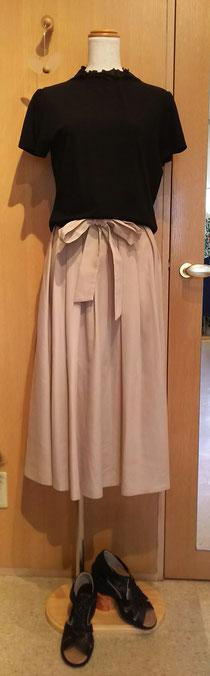 サラサラカットソーと涼しげスカート