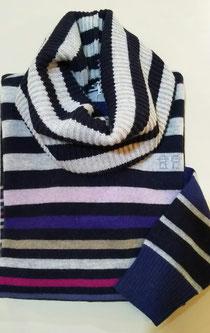 スヌードとセットのセーター