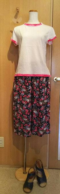 スカートみたいな7分丈パンツ