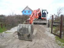Beseitigung der Hochwasserschäden