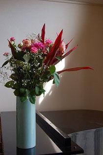 お花ありがとうございます。とても嬉しい~♪