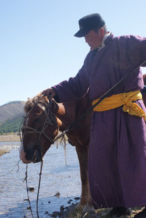 Guide mongol à cheval