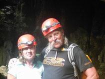 Zwei Höhlenforscher