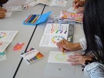 絵本「じっとみて。」を使った色育講座