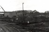 Bau der Turnhalle 1991