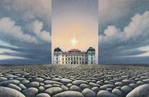 Montage nach einem Orginalbild von Michael Krähmer mit dem Foto von Barockschloss Riegersburg