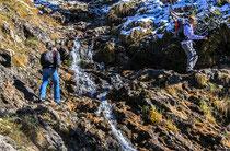 Gebiergspfad mit Alpinen hauch