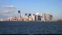 Manhattan, vu de la Statue de la Liberté