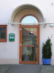 Eingang zur AWO-Begegnungsstätte Röthenbach