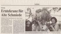 Frauen in der Kirmes - Zeitungsauschnitt 1993